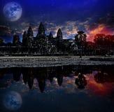 O nascer do sol de Angkor Wat, Siem Reap, Camboja, era inscrito na lista do patrimônio mundial do UNESCO em 1992 Elementos desta  fotos de stock