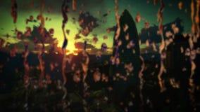 O nascer do sol do timelapse de Londres, seguradora suíça sedia, o pepino, inclinação, foco da chuva deixa cair vídeos de arquivo