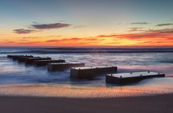 O nascer do sol litoral resmunga a cabeça North Carolina fotos de stock royalty free