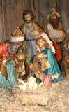O nascimento da criança santamente Imagem de Stock Royalty Free