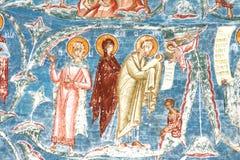 O nascimento da criança santamente, Jesus Cristo Imagem de Stock