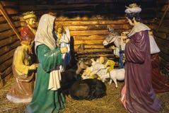 O nascimento de Jesus Foto de Stock Royalty Free