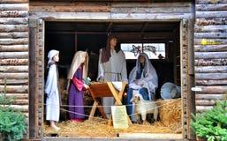 O nascimento de Jesus Imagem de Stock