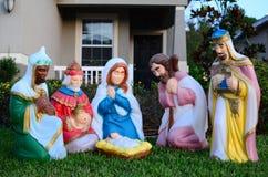 O nascimento do bebê Jesus Christ  Foto de Stock Royalty Free