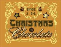 O Natal é chocolate Imagem de Stock