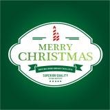 O Natal é tema do emblema Elementos das decorações Imagens de Stock Royalty Free
