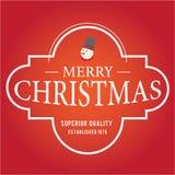 O Natal é tema do emblema Elementos das decorações Foto de Stock Royalty Free