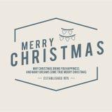 O Natal é tema do emblema Elementos das decorações Imagem de Stock Royalty Free