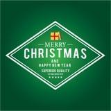 O Natal é tema do emblema Elementos das decorações Imagens de Stock