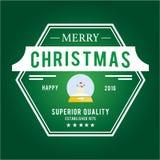 O Natal é tema do emblema Elementos das decorações Fotos de Stock
