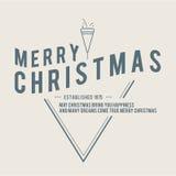 O Natal é tema do emblema Elementos das decorações Fotografia de Stock Royalty Free