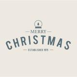 O Natal é tema do emblema Elementos das decorações Imagem de Stock