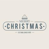 O Natal é tema do emblema Elementos das decorações Fotografia de Stock