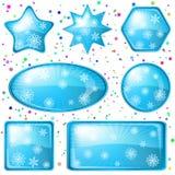 O Natal abotoa flocos de neve, jogo ilustração stock