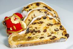 O Natal alemão stollen Foto de Stock Royalty Free
