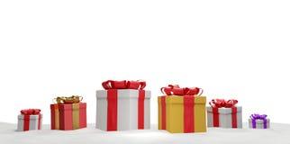 O Natal apresenta com fita 3d-illustration ilustração royalty free