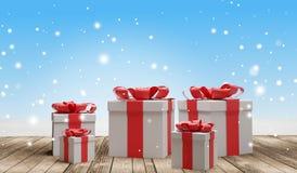 O Natal apresenta o fundo 3d-illustration ilustração royalty free