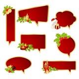 O Natal borbulha discurso Imagens de Stock