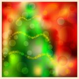O Natal borrou o fundo do bokeh com árvore de Natal ilustração do vetor