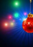 O Natal brinca decorações vermelhas Fotos de Stock