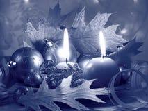 O Natal Candles o cartão - foto conservada em estoque Foto de Stock Royalty Free