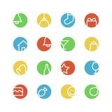 O Natal coloriu o grupo do ícone Imagem de Stock Royalty Free