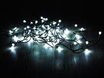 O Natal conduziu luzes no assoalho Fotografia de Stock Royalty Free