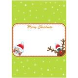 O Natal convida com Santa e Rudolf Fotos de Stock Royalty Free
