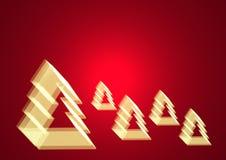 O Natal dá forma à iluminação das árvores Imagens de Stock Royalty Free