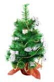 O Natal decorou a pele-árvore fotografia de stock