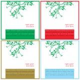 O Natal deseja cartões quadrados Fotos de Stock Royalty Free