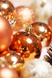 O Natal do xmas do ano novo ornaments a decoração imagens de stock royalty free