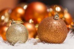 O Natal do xmas do ano novo ornaments a decoração fotografia de stock royalty free