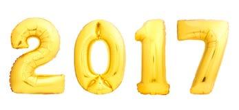 O Natal dourado balloons 2017 Imagem de Stock Royalty Free