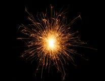 O Natal e o ano novo party o chuveirinho no preto Imagem de Stock Royalty Free