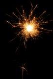 O Natal e o ano novo party o chuveirinho no preto Imagem de Stock