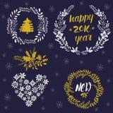 O Natal envolve a coleção ilustração do vetor
