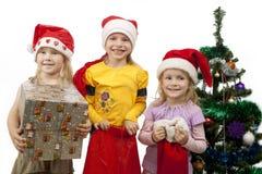 O Natal está vindo acima! Imagem de Stock
