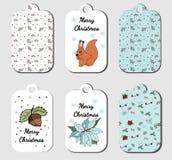 O Natal etiqueta a coleção no vetor ilustração stock