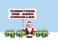 O Natal foi cancelado Imagens de Stock Royalty Free