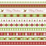 O Natal limita 3 estilos ilustração stock