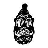 O Natal mostra em silhueta Santa Imagens de Stock Royalty Free