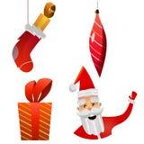 O Natal objeta a coleção Imagem de Stock
