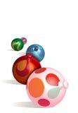 O Natal Ornaments 3D Imagens de Stock