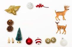 O Natal ornaments a beira imagem de stock