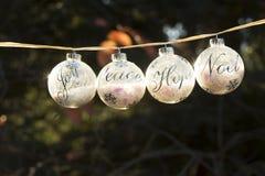 O Natal ornaments a decoração foto de stock royalty free