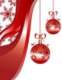 O Natal Ornaments flocos de neve detalhados Foto de Stock Royalty Free