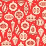 O Natal ornaments o teste padrão Imagem de Stock Royalty Free
