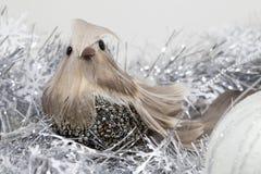 O Natal ou os anos novos brincam o pássaro para a decoração, close up Imagem de Stock Royalty Free