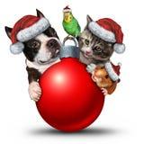 O Natal Pets a decoração ilustração do vetor